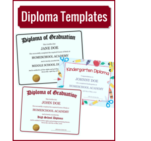 Homeschool diploma templates free for homeschoolers yadclub Gallery