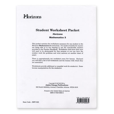 Grade 3 Worksheet Packet