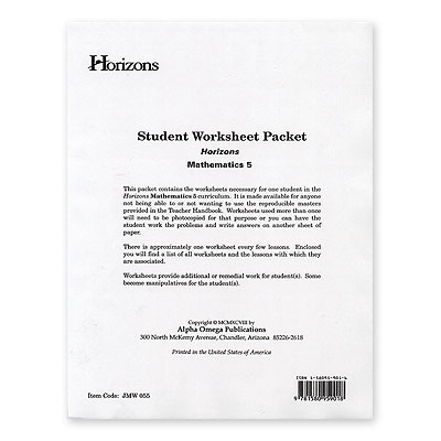 Grade 5 Worksheet Packet