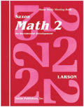 Saxon Math 2 Homeschool Complete Kit