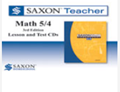 Saxon Math 5/4 Homeschool Saxon Teacher CD-ROM 3rd Edition