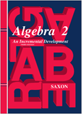 Saxon Algebra 2 Homeschool Kit w/Solutions Manual Third Edition
