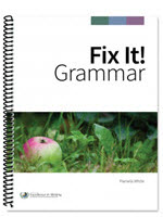 Homeschool Curriculum - Fix It! Grammar