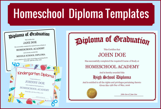 homeschool diploma templates free for homeschoolers
