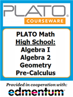 Homeschool Curriculum - PLATO Math - High School