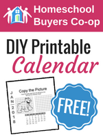 Homeschool Curriculum - DIY Desk Calendar